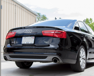 Black Audi repaired and detailed